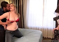 Blonde Wife Gets Black Cock While Husband Watches On
