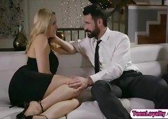 Blonde Mia Malkova hooks rich guy and fucks him for money