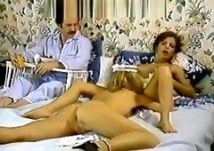 Karen Summer, Nina Hartley in porn classic clip with a horny maid