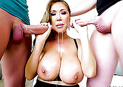Chestnut haired giant breasted dirty whore Kianna Dior is good at sucking dicks