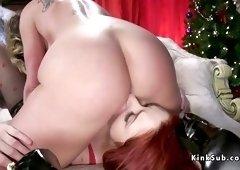 Huge booty dominatrix anal fucks babe