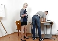 Mature Teacher Handjob Blowjob Long Red Nails 3