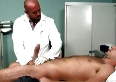 Gay Doctor Sucks And Jerks Patient Cock