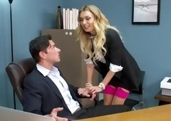 Natalia Starr caught toying herself fucks the security to keep him quiet