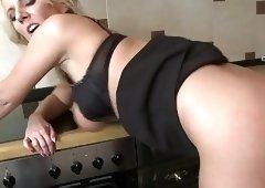 Big titty mature MILFs sharing lucky stud