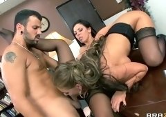 Threesome sex video featuring Rachel Starr, Phoenix Marie and Emma Starr