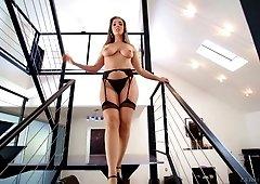 Ravishing blonde MILF Lena Paul impaled with a big hard cock