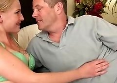 Interracial cuckold session for her hubby where he blows a cock