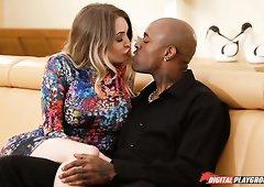 Black dude fucks Tamara Grace while his friend serves a brunette MILF