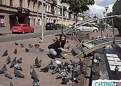 POV cocksucking amateur gets filmed