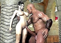 A stylish lady enjoys a monster cock with as result a giant creampie.