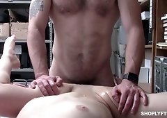 Shoplifting chick Kenzi Ryans is punished by one kinky dude