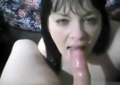 Vintage video of motel blowjob and big facial