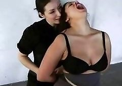 Busty girl gets bound and gagged by mistress BDSM movie