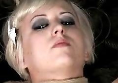 Hot blonde girl is eager to receive pain BDSM porn