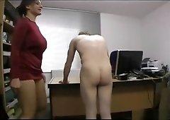 Becky Office Ballbusting