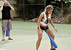 swingers get together by the tennis courts to mix and mingle