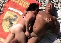 Big boobs at beach