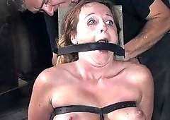 Delicious bitch gets his dick deep down in a rough sex