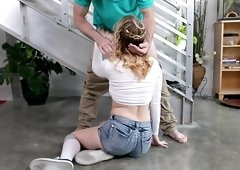 Naughty guy finally gets to bang Anastasia Knight while she moans
