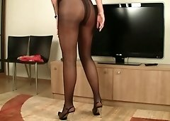 This babe is playful and it shows in her attitude and she loves wearing tights