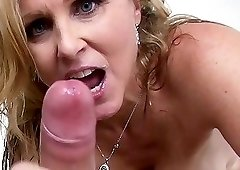 Extremely sexy double blowjob by two sweet hotties