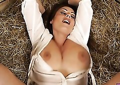 Fuck a milf in the barn and make her talk dirty