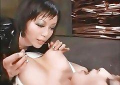 Japanese lesbian nipple pinching nipple pulling ONLY