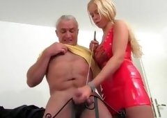 Horny Amateur record with Femdom, Young/Old scenes