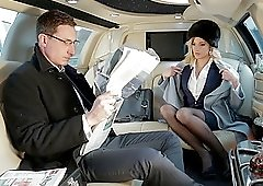 Reality couple fuck in a car with a blonde teen in nylons Ria Sunn