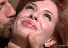 Horny fetish, milf sex video with hottest pornstars Derrick Pierce and Veronica Avluv from Dungeonsex