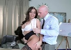 Sweet lady is having sex