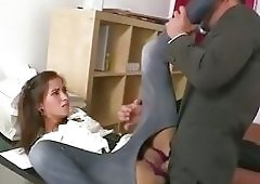 Brutal fucking at the office!
