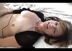 Sporty milf takes on two guys and her vibrator