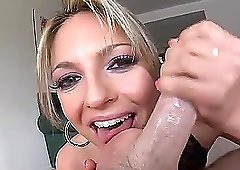Pretty blonde Lexi Love only wants to suck his long dong