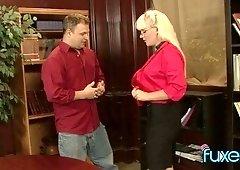 Lubricious blonde seduces her best friend's husband