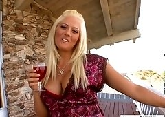 Attractive busty blonde Holly Heart rides a hard dick like a sex-hungry hooker
