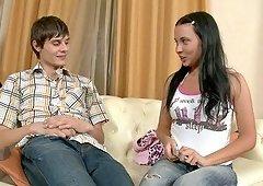 Sandra enjoys a romantic evening with a handsome lover