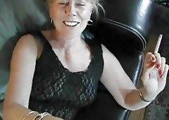 smoking mom fucking black dick at home