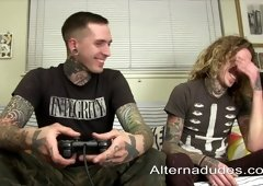 Tattooed Gays Ass Pounding