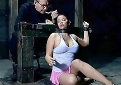 Tied up slut denied of good things by master BDSM