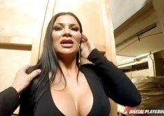 Busty harlot Jasmine Jae pleasures a big dick in a POV session