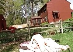 Amateur couple fucks at the ranch