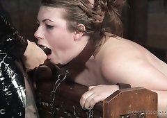 Sinful chick Harley Ace gets her pussy punished by one angry nun