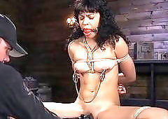 Black girl gets dominated by her white master very hard