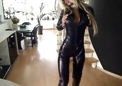 Latex porn star Latex Lucy with giant boobs