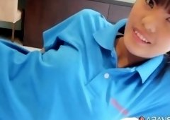 Bonny oriental teenage gal