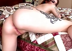 Perfect tattooed body on this babe taking BBC in her cunt