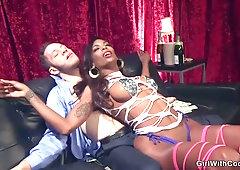 Black she-creature lap dancer assfucking drills fellow