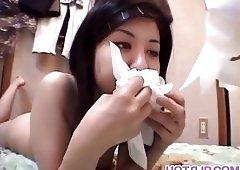 Sexy vixen Kayo loves playing with hug - More at hotajp.com